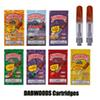 DABWOODS Carts 0.8ml 1.0ml TH105 TH205 Ceramic Coil Wood Drip Tip 510 Thick Oil Cartridge Vape Tank Watermelon Pineapple 9 Flavors