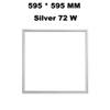 595 * 595 mm gümüş 72 W