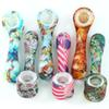 glow in the dark smoking pipe creative Silicone Hand Pipes Tobacco Pyrex Colorful Cute bong with removable glass bowl for Smoking water pipe