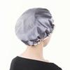 Waterproof Women Shower Caps Solid Color Double Layer Bath Shower Cap Hair Cover Adults