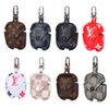 Leather Earphone Case For Airpod Earphone Protector Accessories Multicolor 11 Colors With Hook Luxury Fashion Brand