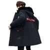 Large fur collar men's long section winter 2018 new coat thick cotton jacket Japanese men's down jacket cotton tide GA006
