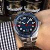 Cadran bleu (bracelet en acier)