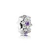 Kristie 100% Sterling silverGlamour 791834ACZ FORGET-ME-NOT SPACER Bead Original Women wedding Fashion Jewelry 2018