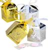 Hooamll 10PCs lot Gold Silver Happy Eid Mubarak Candy Gift Box Ramadan Decoration Islamic Party Happy Eid Mubarak DIY Decoration