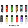 Nord Pod Kit Built-in 1100mAh Battery Button-triggered With 3ml Mesh 0.6ohm 1.4ohm Coil Nord Pod Cartridge All-in-one System Vape Pen Kits