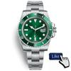 Orologio di Lusso Glide Lock Clasp Strap Mens New Automatic Watch Green Watches 116610LV Orologio Automatico Wristwatch Orologi da Uomo