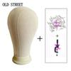 "Canvas Block Head for Wig Making Styling and Display Premium Quality Wig Stand Mannequin + Clamp 21"" 22"" 23"" 24"" 25"""