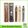 HOT Brass Knuckles Vape Battery 650mAh 900mAh Variable Voltage Preheat E-Cigarette Battery Pen For 510 Thraed Thick Oil Cartridge 2019 DHL