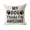 Best Dog Lover Gifts Cotton Linen Throw Pillow Case Cover Decorative Office Home Throw Pillow Cover l0725