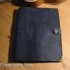 Papel de embalagem de linha de cavalo louco azul