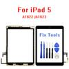 10pcs lot New 2017 Year A1822 A1823 Touch Screen For iPad 5 5th Generation Digitizer Outer LCD Panel Front Glass With Sticker