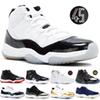 Concord 45 11S XI Platinum Tint Men Basketball Shoes 11 Bred Space Jam Cap and Gown PRM Women Sports Sneakers US 5.5-13