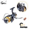 10+1BBs Carp Fishing Reel with Extra Spool Front and Rear Drag System Freshwater Spinning Reel Type Fishing Wheel