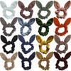 new 25 color Women Girl Hair Band Cute Flower Rabbit Ears Girl Ring Scrunchy Kids Bow Head Wrap Ponytail Holder Hair Accessories