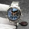 Hot Color Chronograph Speed quartz Men 300 Racing Master CoAxial Moonwatch Professional Spectre Men Black Orange Watches Mens Wristwatch