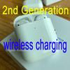 Newest 2nd Generation Wireless Charging with Smart Sensor Bluetooth Earphone Matte Hinge H1 Earbuds pk Airpods 2 W1 Chip Supercopy Animation