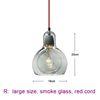 large, smoke glass, red cord