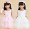 2019 New Arrival Two Layers White And Pink Flower Girl's Bridal Veil With Wreath Wedding Veil For Girls