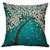 1pc Flower Tree Print Cute Style Simple Linen Blend Cushion Cover Mixed Sofa Car Cushion Cover Home Decoration 40X40cm L617