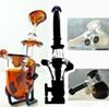 IN STOCK black white Amber Sherlock hand pipe glass oil burner Mini Smoking pipe Glass Blunt glass bongs for dry herb