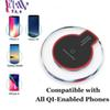 Qi Wireless Phone Charger Portable k9 Fantasy crystal Universal LED Lighting Tablet Charging For Samsung Galaxy S8 IPhone 8