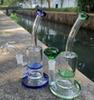 New bong with Honey bucket and Matrix oil rig glass bongs water pipe fab egg bong colorful glass bubbler pipe