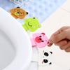 Cartoon animal portable Toilet Seat Lifters convenient to Toilet lid device is mention Toilet potty ring handle home Bathroom products set