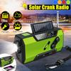 Solar Digital Crank Emergency AM FM WB Weather Portable Radio Solar Power Bank 2000Mah Rechargeable