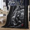 European style Luxury blanket for beds summer winter warm gift for adult with Locomotive skull rose of bed blanket