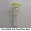 14mm Male G Estilo embudo de vidrio Cuenco