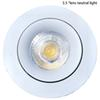 LED,COB, lens ceiling lamp, diameter 120mm,aluminum alloy cooling module, external rectifier, 4000K color temperature, efficient energy savi