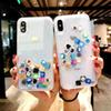 Designer caso luxury Liquid Hard PC Clear Phone Shell For iPhone 6 6S 7 8 Plus X XS XR MAX Cases Quicksand Cover Cute APP icon Case Capa
