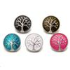 New Tree of Life Enamel Ginger Snap DIY Jewelry Fit 18MM Snap Button Charm bracelet Necklace Noosa Jewelry in bulk