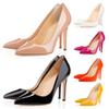 Red Bottoms Luxury Designer High Heels Round Pointed Toe Pumps Women Wedding Dress Shoes 35-42 8CM 10CM 12CM Wholesale Drop Ship