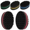 Wave Barber Sponge Hair Brush Oval Double Sides Magic Twist Hair Brush Sponge Wave Hair Magic Twist Sponge Brush RRA1016