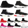 2020 TOP Quality Speed Trainer Black White Designer Sneakers Men Women Black Red Casual Shoes Fashion Socks Sneakers Cheap Boots 36-45