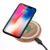 Bamboo Wood Wireless Charger Pad 10W Qi Fast Charging Pads for iPhone 11 Pro Xs Max Samsung Note 10 Plus with Retail Package