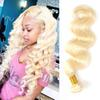 Malaysian Virgin Hair Double Wefts Body Wave Blonde Of 613 Color 1 Piece One Lot One Bundle 10-32inch Light Blonde