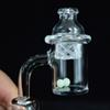 Quartz Banger Nail with Spinning Carb Cap Glow in the Dark Luminous Quartz Terp Pearls Dab Tool Female Male 10mm 14mm 18mm for Glass Bong