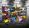 Romero Britto Colorful Art Abstract Background,HD Canvas Printing New Home Decoration Art Painting (Unframed Framed)