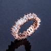 18 كيلو روز الذهب الأبيض الماس