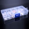 Adjustable Slots Plastic Jewelry Box Storage Case Craft Jewelry Organizer Beads Earrings Rings Gift Boxes Small CartStorage box   Part box