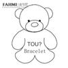 FAHMI 100% 925 Sterling Silver Cute Bear Bracelet Women's Fashion Bracelet Original Jewelry High Quality Jewelry Wholesale