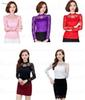 New Women's Blouse Shirt Stand Solid Long Sleeve Office Ladies Tops Femme Lace Blusas Women Shirts Plus Size 5xl Female Top