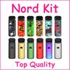 TOP Quality Nord Kit Pod System Kit 1100mah with Nord Cartridge 3ml Mesh & Regular Coils for Both Sub-ohm & MTL Vaping
