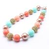 Mint Green Color Fashion Baby Kid Chunky Necklace Best Gift New Arriel Bubblegume Bead Chunky Necklace Jewelry For Baby Kid Girl