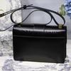 Designer handbags fashion retro leather one-shoulder flip buckle buckle bag diagonal package designer handbag with box