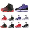 Hot New 11 Low Space Jam Kids Sports Basketball Shoes GS Children's Heiress Suede Maroon Bred 11s Sneakers B