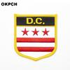 U.S.A D.C. State Iron On Badge Embroidered Clothes Badge For Clothing Stickers Garment 1pcs 6*7cm